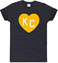 Charlie Hustle Unisex Black and Gold KC Heart T-Shirt