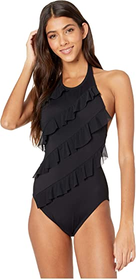 adidas allover print swimsuit mystery ink bianca
