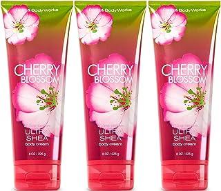 Bath & Body Works Cherry Blossom Triple Moisture Body Cream 8 Oz Lot of 3