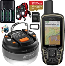 Garmin GPSMAP 65 Handheld Outdoor GPS Navigator with U.S. & Canada Maps GNSS Satellite Multi-Band Rugged Bundle w/Deco Gea...
