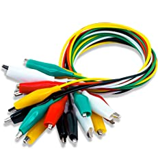 KAIWEETS Electrical Alligator Clips Test Leads Sets Soldered and Stamping Jumper Wires for Circuit Connection/Experiment, 21 inches 5 Colors (10 PCS)