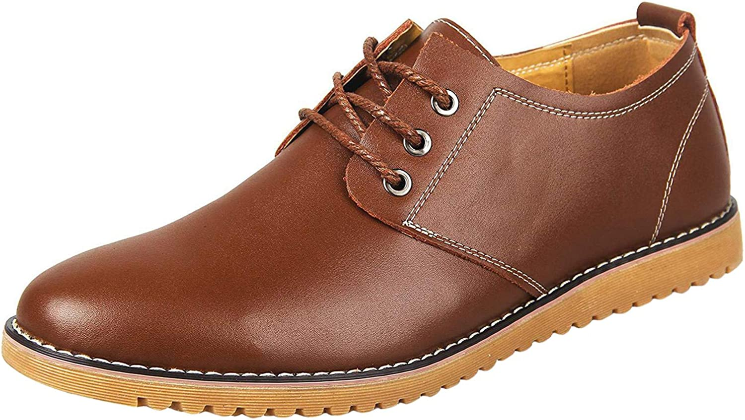 PPXID Men's Formal Dress Casual Lace-up Oxfords Leather Shoes