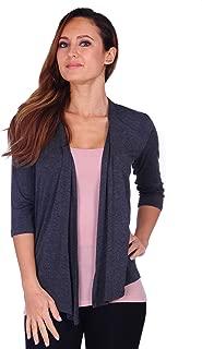 SR Womens Basic Draped Open Front Cardigan (Size: S-3X)