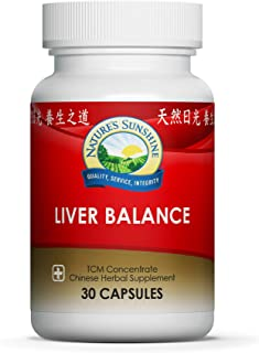 Nature's Sunshine Liver Balance, Chinese Concentrate, 30 Capsules   Blend of Chinese Herbs That Support The Digestive and Nervous Systems While Optimizing Liver Health