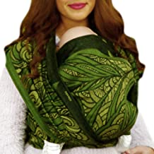 DIDYMOS Woven Wrap Baby Carrier Leafage (Organic Wool/Cotton), Size 6