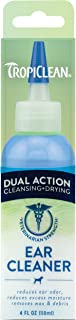 TropiClean TROP-DAEAR Dual Action Ear Cleaner for Pets, 4oz