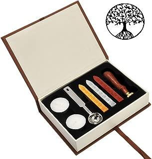 Tree of Life Wax Seal Stamp Set, Yoption Classic Vintage Seal Wax Stamp Set, Retro Seal Stamps Maker Gift Box Set (Tree of Life)