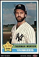 1976 Topps # 650 Thurman Munson New York Yankees (Baseball Card) Dean's Cards 7.5 - NM+ Yankees