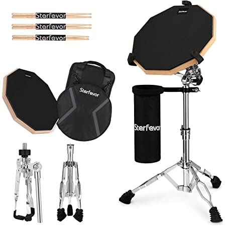 Double Braced Generic Snare Drum Stand 50-60cm Adjustable Practice Drum Stand for 10-14 Inch Drum Pad,Snare Drum Beginners