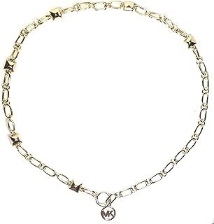 Michael Kors MK Logo Pyramid Chain Belt Rose Gold Size S/M…