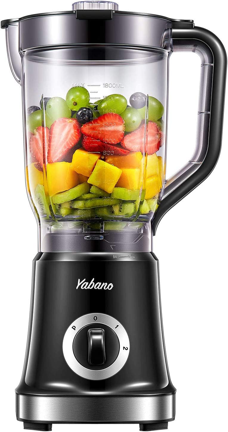 Blender, Professional countertop blender smoothie maker with High Power Blender for Frozen Fruits, and Make Shakes and Crush Ice, 60 oz BPA Free AS Jar