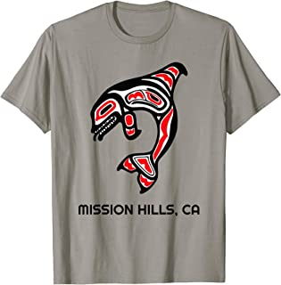 Mission Hills, California Native American Orca Killer Whales T-Shirt