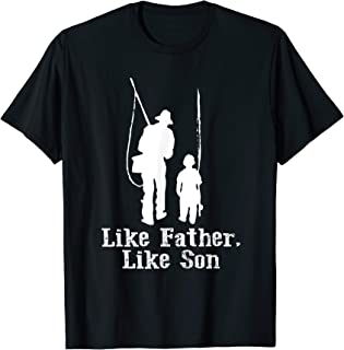 Like Father - Like Son - Fishing Tshirt - Father`s Day T-Shirt