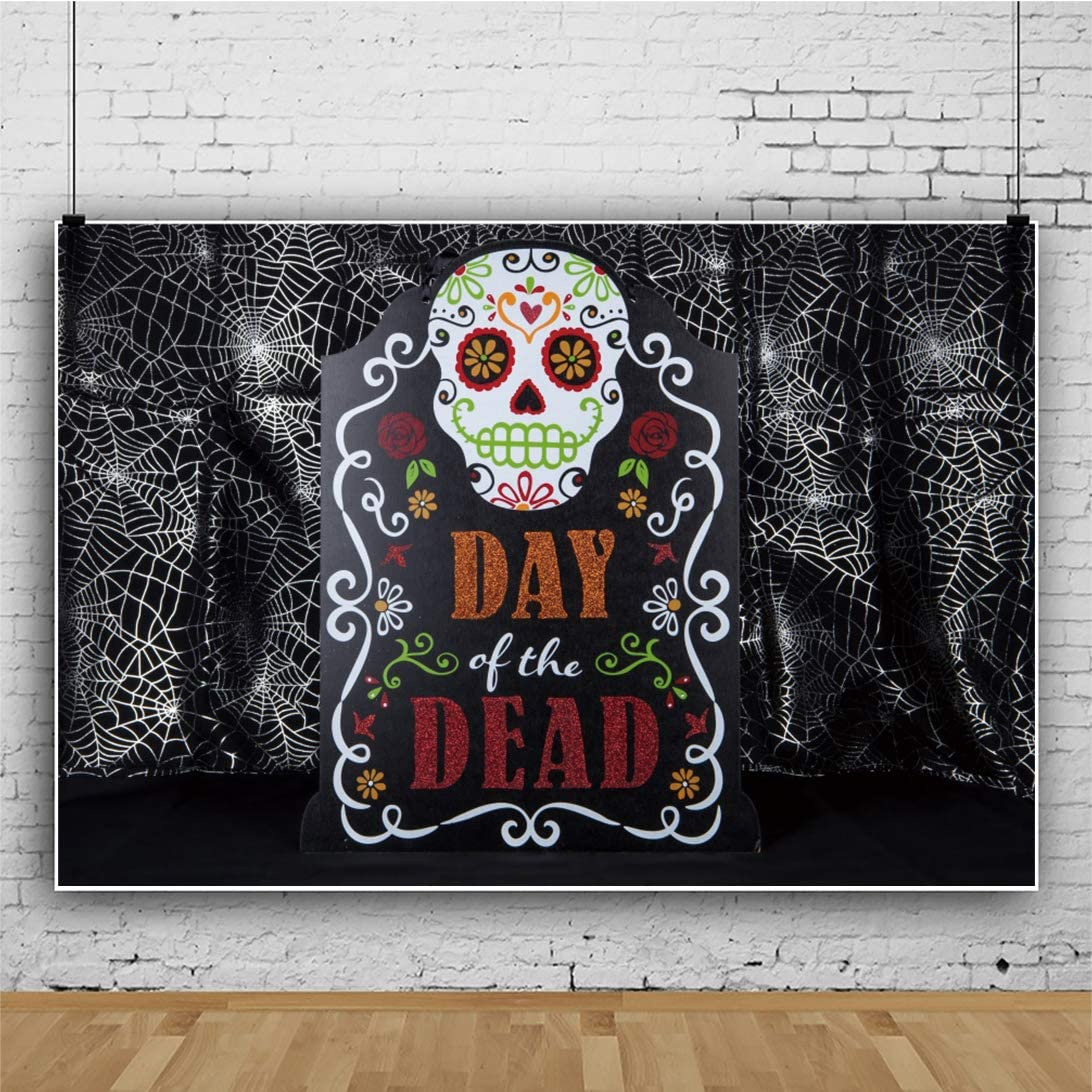 New Mexican Day of The Dead Alter Backdrop 7x5ft Mexican Festival Celebration Traditional Culture All Saint s Day Latin Mexico Folklore Party Decoration Skull Marigold Bone Death Scarey Photos