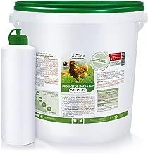 AniForte Milben Stop Puder Kieselgur für Hühner inkl. Puderflasche - Diatomeenerde als Mittel gegen rote Vogelmilben, Milbenstop Pulver ohne Chemie für Bio-Betriebe geeignet - 10 Liter