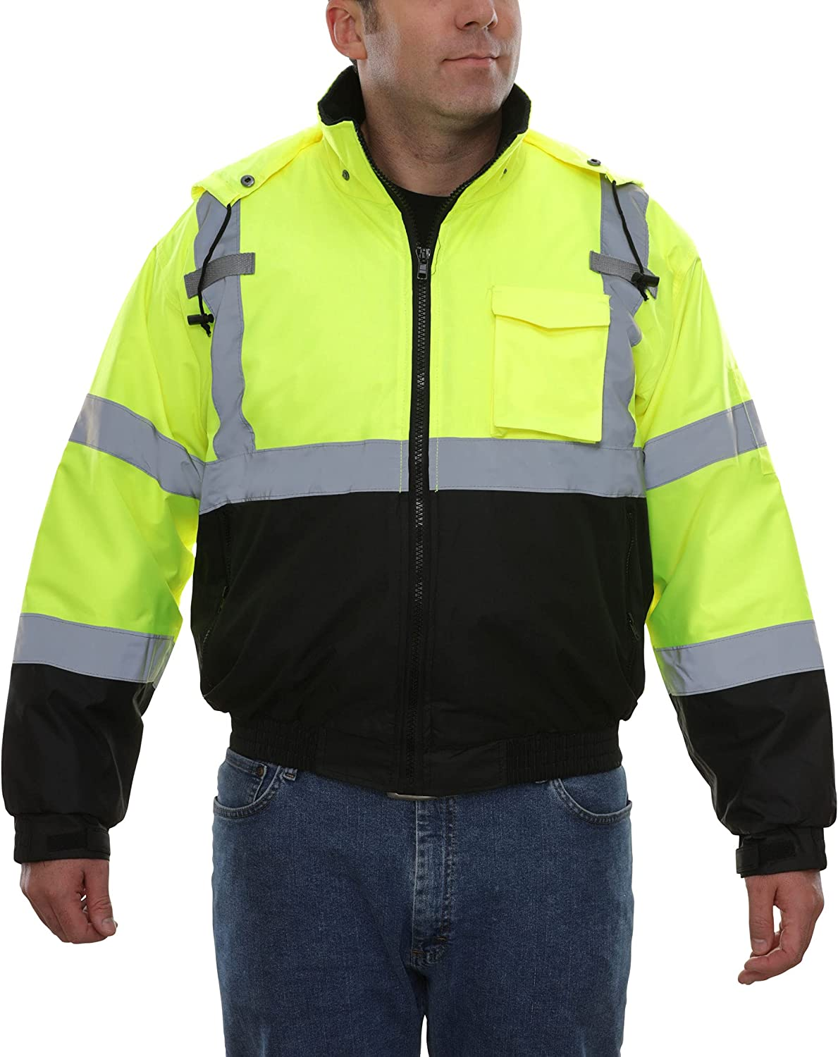 Reflective Max 63% OFF Apparel High Visibility Safety C ANSI Shipping included Bomber Jacket -