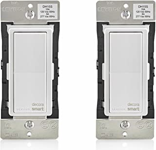 Leviton DH15S-1BZ 15A Decora Smart Switch, Works with Apple HomeKit (2 Pack)