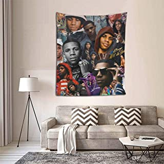 SRuhqu A Boogie Wit Da Hoodie Tapestry Wall Hanging 3D Print Wall Tapestry for Bedroom Living Room Dorm 60x51 Inches