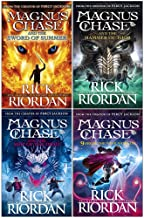 Rick riordan magnus chase series 4 books collection set (the sword of summer, hammer of thor, ship of the dead, 9 from the...