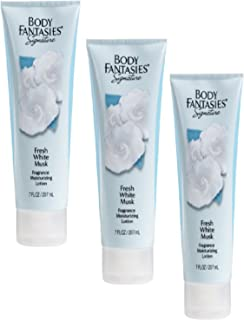 BODY FANTASIES - FRESH WHITE MUSK MOISTURIZING LOTION- PACKAGE OF 3