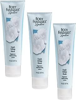 BODY FANTASIES - FRESH WHITE MUSK MOISTURIZING LOTION- PACKAGE OF 3