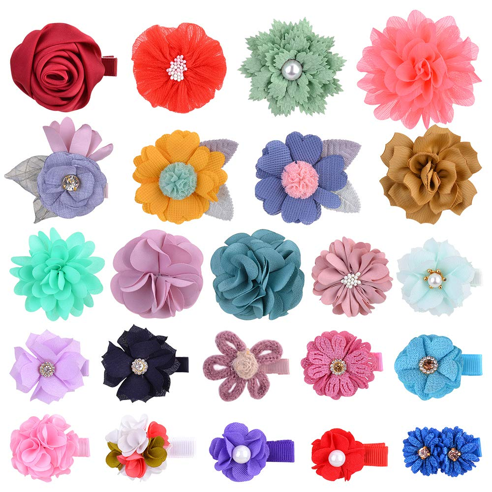 23Pcs Baby Girl Flower and Bow Clips I for 100% quality warranty Hair Barrettes Recommended Floral