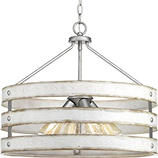 Progress Lighting P500023-141 Gulliver Four-Light Pendant, Galvanized Finish