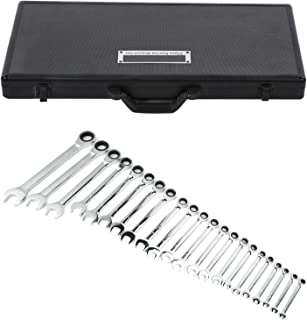 Kombinationsnyckel 22 st. Ring momentnyckel, spärrnyckelsats 6–32 mm hylsnyckelsats, gaffelnyckel, spärrnyckel, kombinatio...