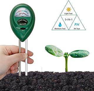 Probador del Suelo 4 En 1 Digital Mini Medidor De Humedad Ph Niveles De Temperatura La Luz del Sol Encuesta De Instrumentos LCD para Jard/ín De La Granja del C/ésped