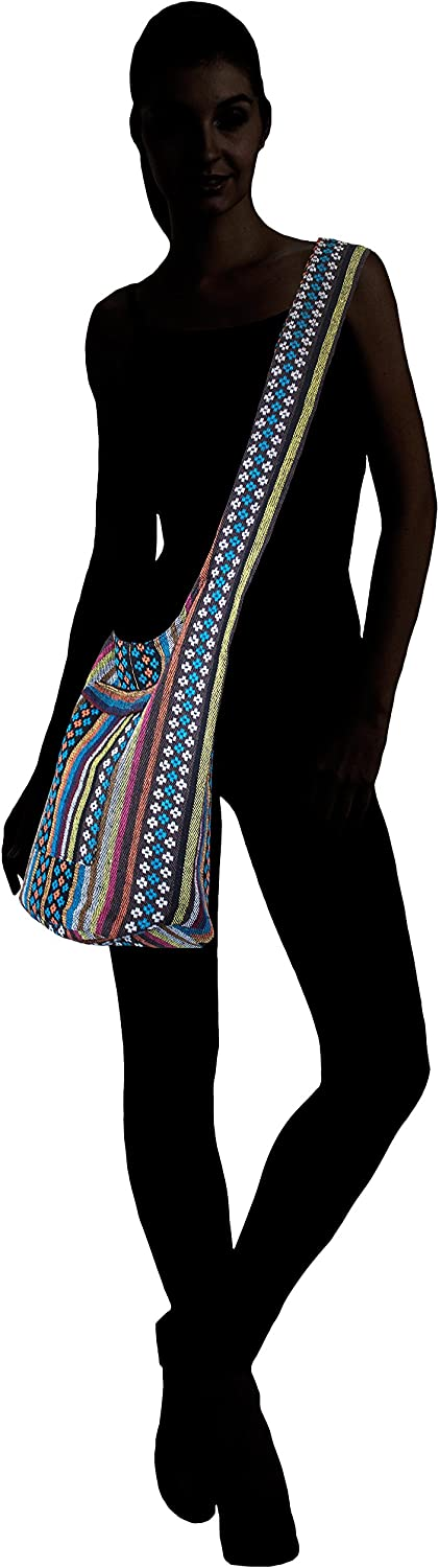 Delpinkria Tribe Collection Multicolord Boho Sling Crossbody Bag