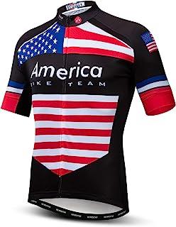 Cycling Jersey Men, Men's Bike Shirt Short Sleeve Tops S-XXXL,Lycra Cuffs