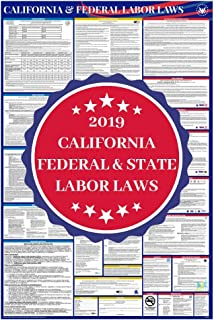 2019 California State and Federal Complete All in One Labor Law Poster - OSHA Compliant & Includes IRS EITC & NLRA Employee Laws Not on Most Posters - 26