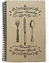 Personalized recipe book to write in, handmade blank cookbook, kraft cover gift 5.5x8.5