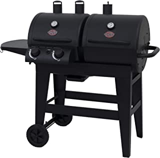 Char-Griller 5030 2-Burner Gas & Charcoal Grill Dual Function, Black