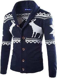 2018, Mens Christmas Ugly Sweater Cardigan Winter Warm Knitwear Coat Jacket