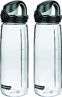 Nalgene Tritan On The Fly Water Bottle, CLEAR/BLACK Set of 2, 24Oz