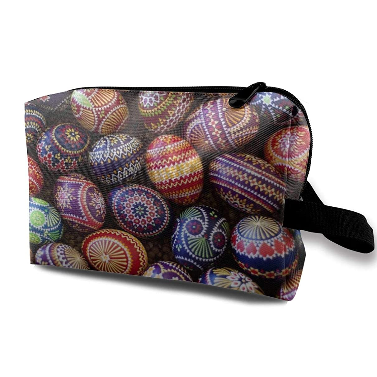 カウンタ拾う年金Germany Easter Eggs 収納ポーチ 化粧ポーチ 大容量 軽量 耐久性 ハンドル付持ち運び便利。入れ 自宅?出張?旅行?アウトドア撮影などに対応。メンズ レディース トラベルグッズ