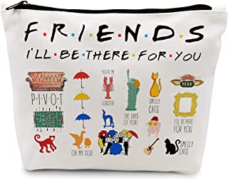 Ihopes Friends Quotes Makeup Cosmetic Bag Cotton Zipper Pouch - Friends TV Show Cosmetic Travel Bag Toiletry Make-Up Case ...