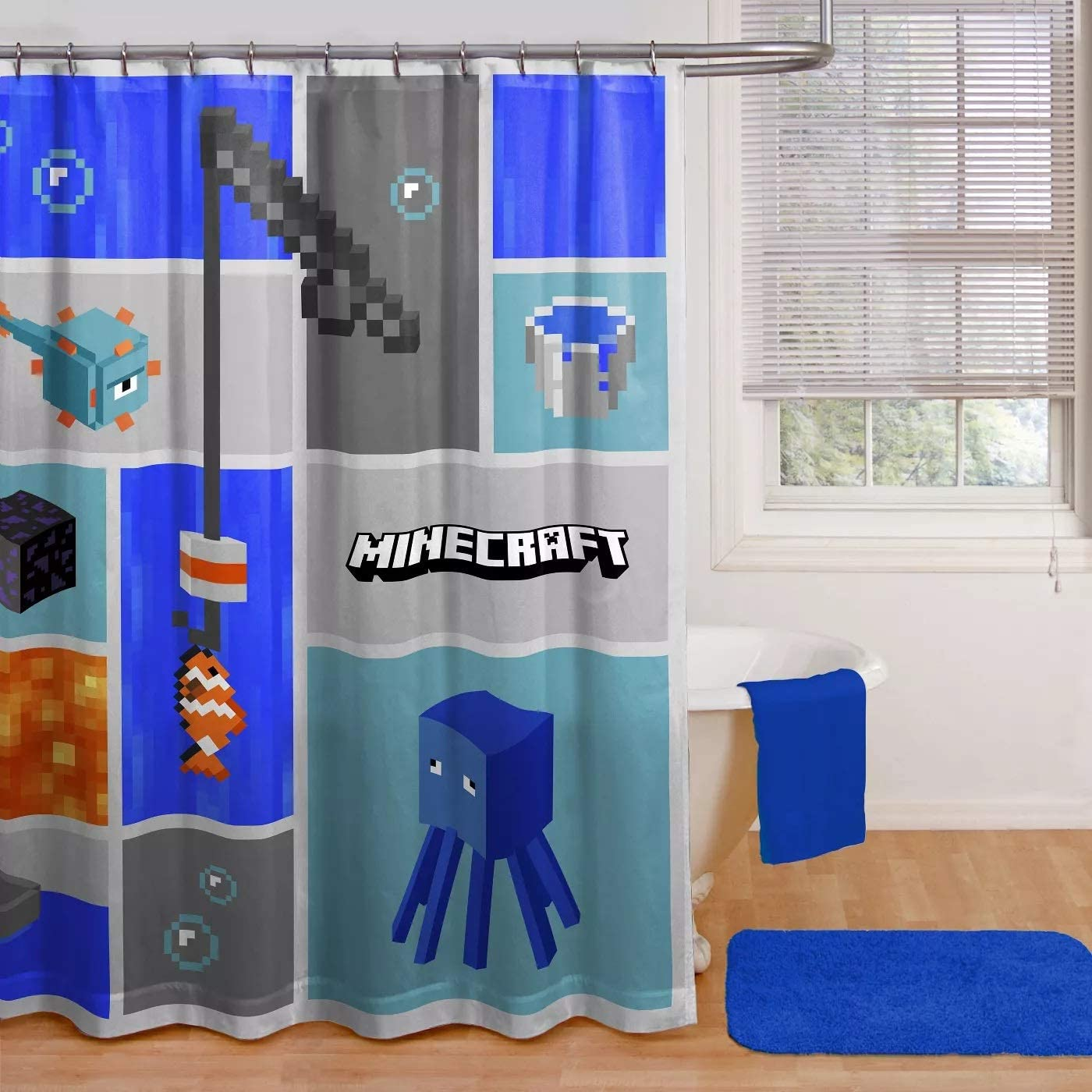 Minecraft Shower Curtain Super sale period Challenge the lowest price of Japan limited