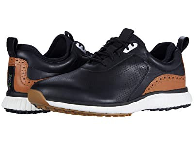 Johnston & Murphy Waterproof XC4(r) Golf H1-Luxe Hybrid Sneaker (Black Waterproof Full Grain) Men