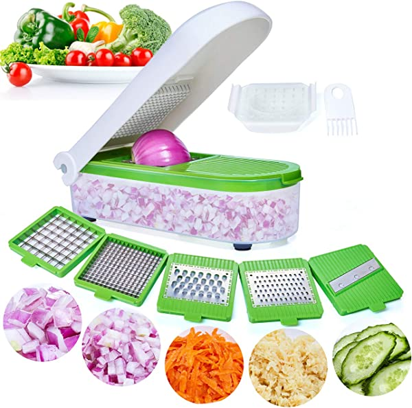 LHS Vegetable Chopper Pro Onion Chopper Slicer Dicer Cutter Cheese Veggie Chopper Food Chopper Dicer With 5 Blades