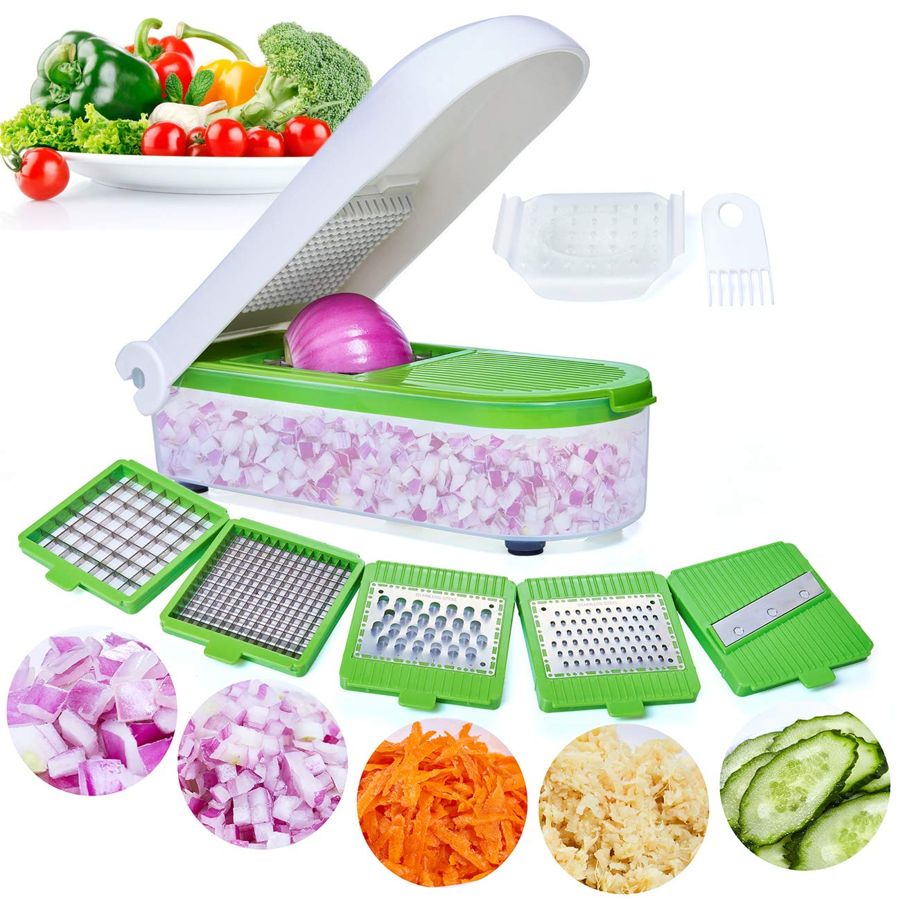 Onion Chopper Vegetable Dicer Food Spiralizer