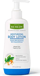 Remedy Dermatology Series Body Lotion for Dry Skin, Moisturizing Lotion for Body, Hands and Feet, Dermatologist Tested and Paraben Free, Great for Eczema or Sensitive Skin, 8 fl oz