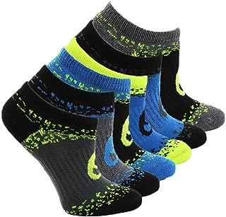 Asics Boys Youth Splatter No Show 6-Pack Running Athletic Socks Socks,