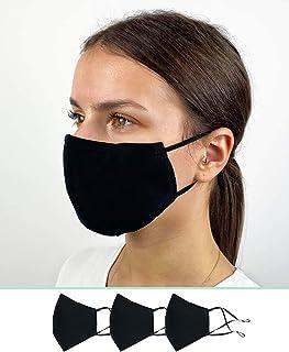 Pack de 3 Mascarillas Reutilizables y Lavables de Tela Algodon Homologadas - Comodas y Respirables - Máscaras Certificadas...