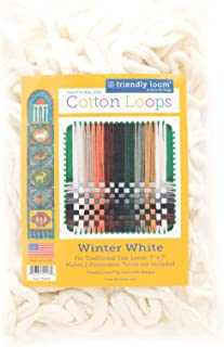 (Winter White) - Harrisville Designs Traditional 18cm Cotton Loops, Winter White - Makes 2 Potholders