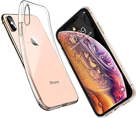 UNBREAKcable iPhone XS Case iPhone X Case - Crystal Clear, Ultra-Thin Slim Soft TPU Silicone Protective Transparent Case Cover for iPhone XS iPhone X