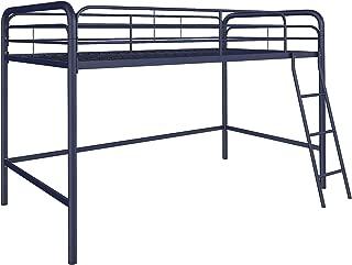 DHP Junior Loft Bed Frame With Ladder, Navy Blue