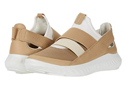 ECCO ST.1 Lite Slip-On (Navajo Brown/White/Beige Textile/Textile/Cow Leather) Women