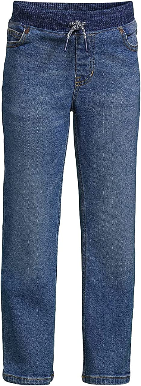 Lands' End Boys Iron Knee On service Pull Jeans Stretch SALENEW very popular
